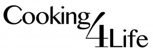 Cooking 4 Life logo black and white_smaller white